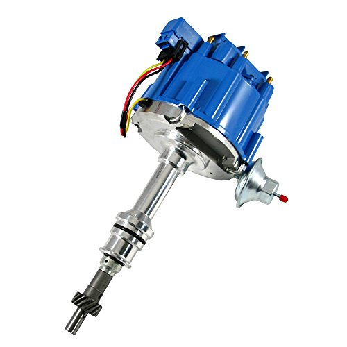 Assault Racing Products 1035113 Ford Small Block One Wire HEI Blue Cap Distributor 50k Volt Ignition Coil 351W (Distributor 1974 Ford Torino)