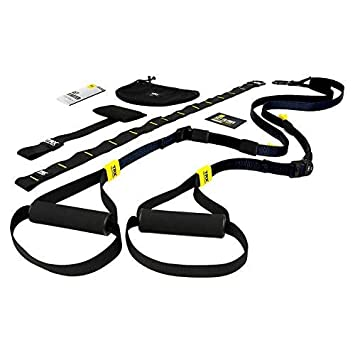 TRX Training - GO Suspension Trainer Kit, Lightest, Leanest Suspension Trainer Ever - Perfect for Travel and Working Out Indoors & Outdoors (Black)