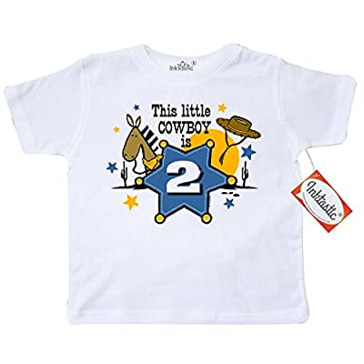 Inktastic Little Boys' Little Cowboy 2nd Birthday Toddler T-Shirt