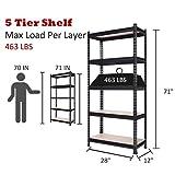 TOOCA Storage Shelves 5-Tier 71 in Height Garage