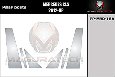AUTOCARIMAGE Glossy Piano Black Pillar Posts Covers for Mercedes CLS 12 13 14 15 16-6 Pieces B Pillars