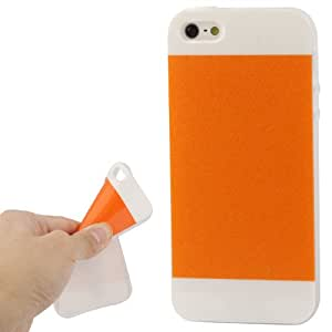 2-color Series Shimmering Powder TPU Case for iPhone 5 & 5S (Orange)