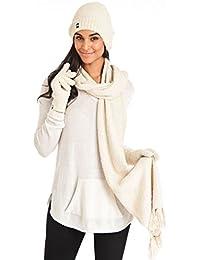 Women's Marshmallow Sparkle Winter Hat, Scarf & Gloves Gift Set