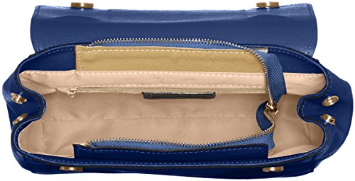 leather 29x20x9 Clutch made Shoulder Italy Cm in Belt in Woman's Blu Pattern Inner Adjustable genuine CTM Blue Hand Jeans Saffiano 1qPPZw