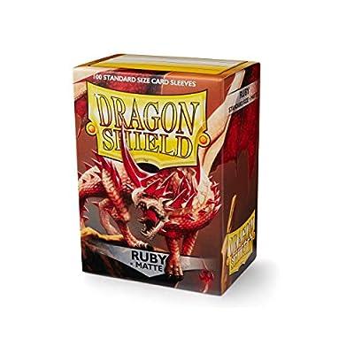 Arcane Tinmen Sleeves: Dragon Shield Matte Ruby (100): Toys & Games