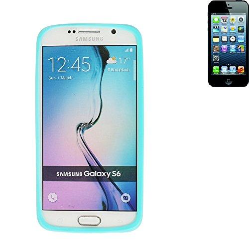 Silikonbumper / Bumper aus TPU für Apple iPhone 5, Türkis / Blau | Schutzrahmen Schutzring für Smartphone Case Hülle Schutzhülle - K-S-Trade (TM) (Wir zahlen Steuern in Deutschland!)