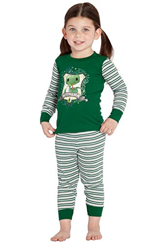 Harry Potter 'Slytherin House Crest Serpent' Cotton Baby Pajama Gift Set, Slytherin, 12MO Green]()
