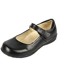 DADAWEN Girl's Strap School Uniform Dress Shoe Mary Jane Flat (Toddler/Little Kid/Big Kid)