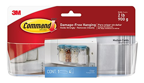 Command Clear Caddy, Medium, 1-Caddy, 4-Strips (HOM14CLR-ES)