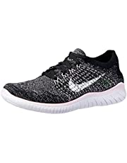 Nike Australia Women's Free RN Flyknit 2018 Running Shoes, Black/White-Pink Foam