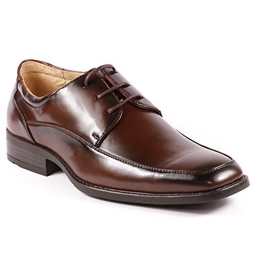 225b14809 Miko Lotti G5808-7 Men's Wine Brown Lace Up Dress Classic Oxford Shoes high-