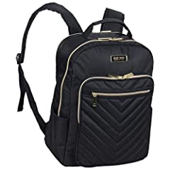 Sleek and sophisticated, this chevron quilted laptop backpack from Kenneth Cole REACTION is perfect for professionals on the go. Features a roomy fully lined interior. Loaded with features, including a padded laptop pocket that holds most lap...