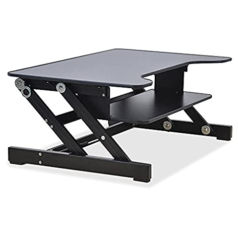 Lorell Sit-to-Stand monitor riser, black (Monitor Mount Sit Stand)