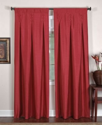 Elrene Home Fashions Imperial Inverted Pleat Panel (Sangria) - 26