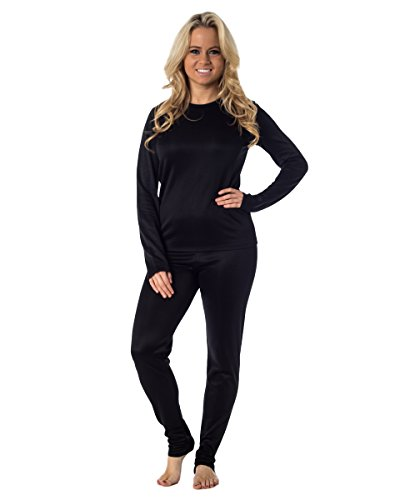 Cuddl Duds Women's Winter Thermal Long underwear base layering set, - Thermal Underwear Cuddl Duds