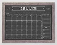 Dry Erase Chalkboard Calendar, Reusable 18x24 Customized Dry Erase Wall Calendar, Chalkboard Calendar, Family