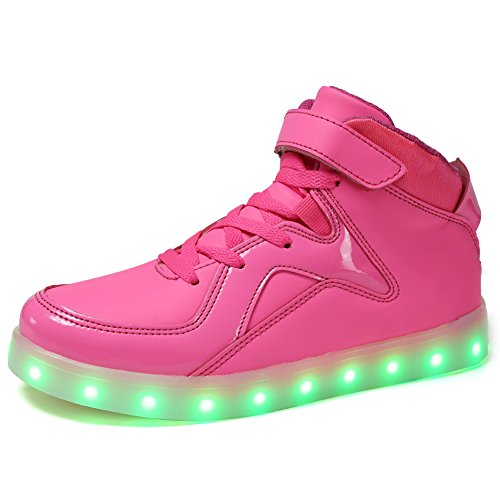 112 Usb (CIOR Kids Boy and Girl's High Top Led Sneakers Light Up Flashing Shoes(Toddler/Little Kid/Big Kid),112,06,29)