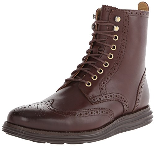 Cole Haan Men's Lunargrand Wing Combat Boot, Chestnut, 9.5 M US (Cole Haan Lunargrand Chestnut compare prices)