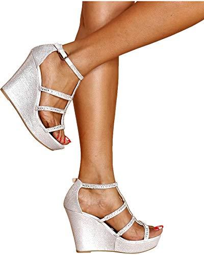 ad53160af3a3fe Jual TOP Moda JESSIE-36 Women s Wedge Sandal - Platforms   Wedges ...