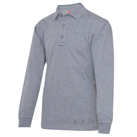 Tru-Spec 24-7 Series Polo Shirt Long-Sleeve Heather Grey ...
