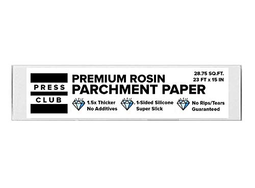 Premium Super Slick Parchment Paper Roll | 23 FT x 15 INCH | 1-Sided Silicone Coating | 100% Food-Grade | 2X Thicker | Reusable