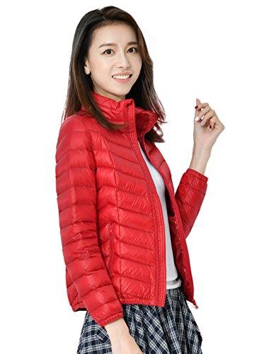Del Mujeres Capa De Ligero Rojo Packable Chaqueta Abajo Colores Santimon Más Disponibles Abajo Calentar Soporte 9 Las Grueso Collar 6E6wCqY