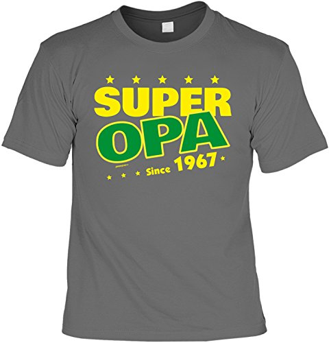 T-Shirt - Super Opa Since 1967 - lustiges Sprüche Shirt als Geschenk zum 50. Geburtstag