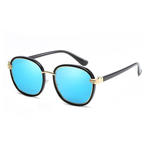 Metal de C3 Anti Resistente los C2 Ms lele Gafas con a Rayos Ai luz UV vértigo polarizada Color Redonda Espejo Sombra Driver Personalidad Sol Cara qvEMppgS