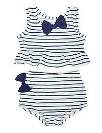 Jurebecia Baby Girl Rash Guard Swimwear Toddler Girl Two Piece Swimsuit Kids Bathing Suit