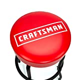 CRAFTSMAN Fixed Height Work Shop Stool, 28.5-inches Tall, Rip-Resistant Padded Vinyl Seat, 300-lb Capacity, 360-degree Footrest, Non-Marring Feet