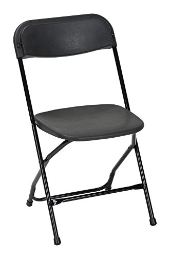 ZOWN Commercial 60540BLK8E Heavy Duty, Injection Mold Banquet Folding Chair, 8-Pack, Black (300 lb. Use Rate) by Cosco Products