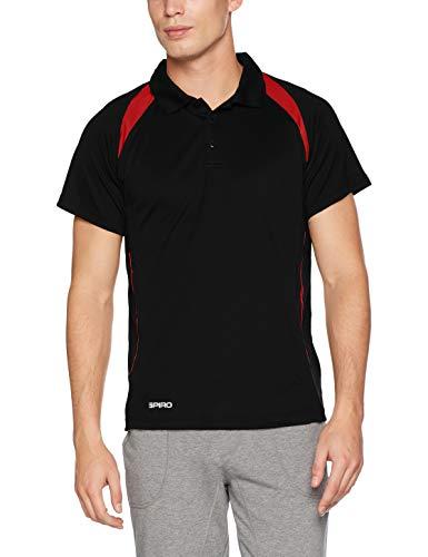 Spirit Spiro Uomo Da shirt Polo Black Red T Team FpHw5qBp