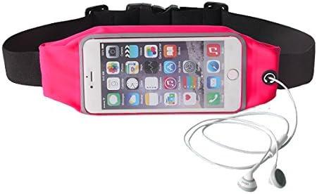 Cinturón Deportivo Riñonera para Smartphone para Running Gym Escalada Trekking Color Rosa Fucsia: Amazon.es: Deportes y aire libre