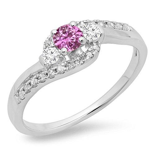 Diamond & Sapphire Bypass Ring - 9