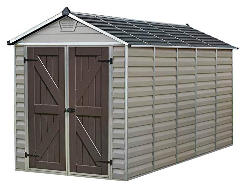 Palram Skylight Storage Shed - 6' x 12' Tan
