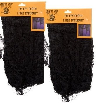 Halloween Decorations - Black Creepy Cloth 30