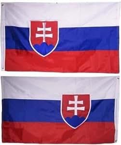 Estados Unidos seller3X 5bordado Eslovaquia país de doble cara bandera de Nylon 220d 3039, x5039, clips + Bonus E-book con imágenes