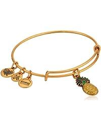 Women's Color Infusion, Pineapple Bangle Bracelet, Rafaelian Gold, Expandable