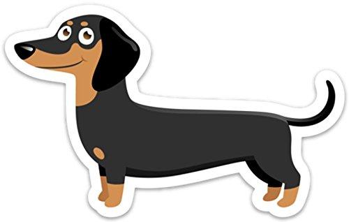 (Dachshund Sticker Doxie Cute Dog Decal Laptop Phone 5