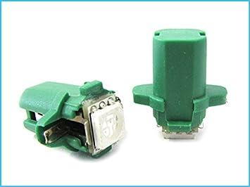 Lampada led t5 b8.3d b8 3d colore verde green luci: amazon.co.uk