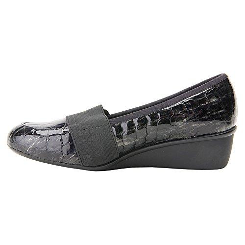 Hommerson Black Femmes Ros Gore Patent Loafer Chaussures Croc ZSnqP