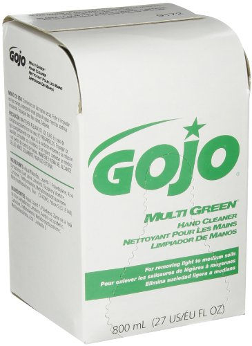 GOJO 9172-12 Multi Green Hand Cleaner, 800 mL Refill (Pack of - Green Stores Hills