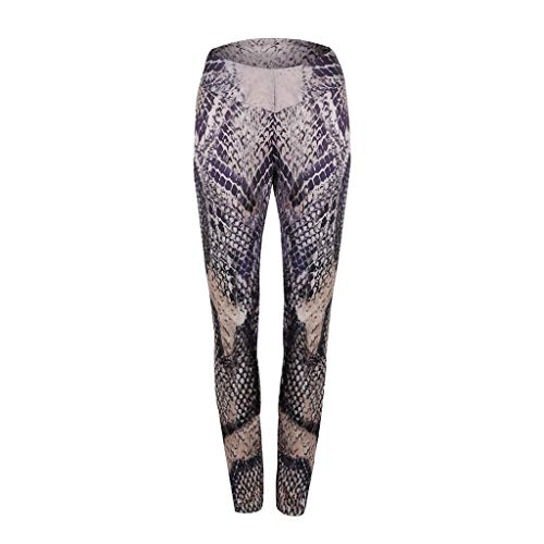 SportHome Women Ladies Python Print Yoga Leggings Skinny Sport Gym Running Jogging Snake Pattern Pants Trousers