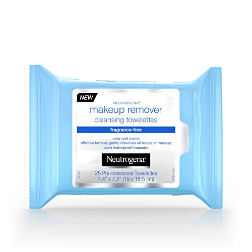Neutrogena Makeup Remover Cleansing Towelettes, Fragrance Free, 25 ct -