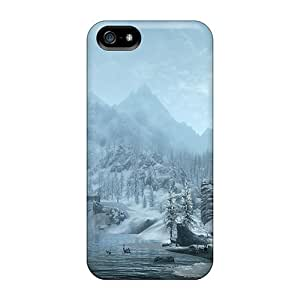 Awesome QoViMAL5948YEaBo Dana Lindsey Mendez Defender Tpu Hard Case Cover For Iphone 5/5s- Skyrim Snowy Mountains