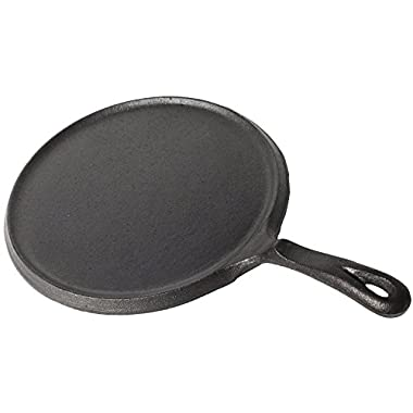 Utopia Kitchen Pre-Seasoned Cast Iron Round Griddle 10.5 inch