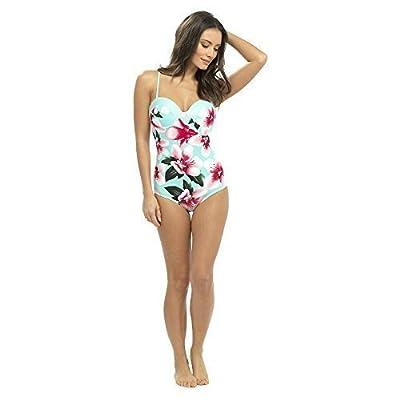 Rjm Flower Print Swimsuit Mint