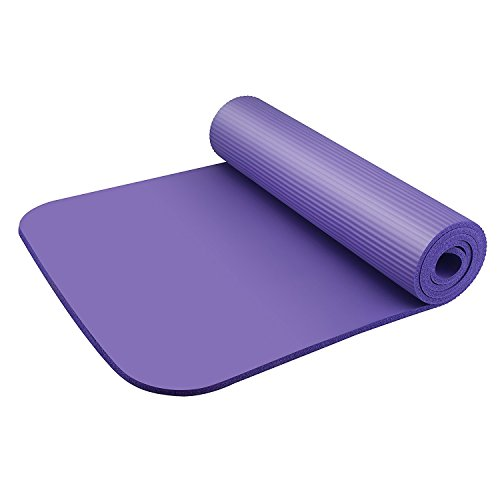 HOMEE Yoga pilates Mat workout exercise cushion gym thick wide pad fitness foldable waterproof soft comfy non-slip washable - 2 colors- blue,purple