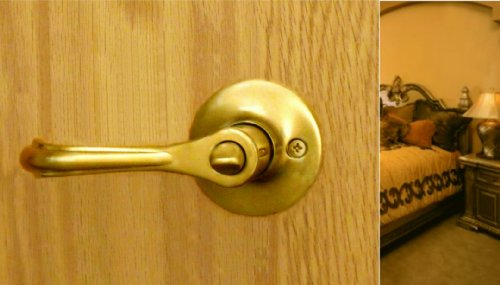 Eiffel Privacy Lever Set by FPL Door Locks for Bedroom and Bathroom Doors in Polished Brass Finish Door Knob Polish