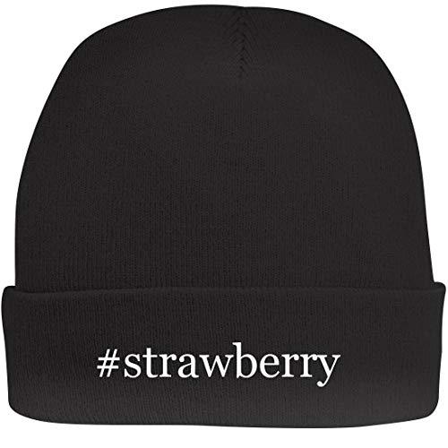 - Shirt Me Up #Strawberry - A Nice Hashtag Beanie Cap, Black, OSFA